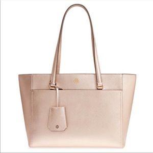 Tory Burch Robinson Metallic Bag in Rose Gold